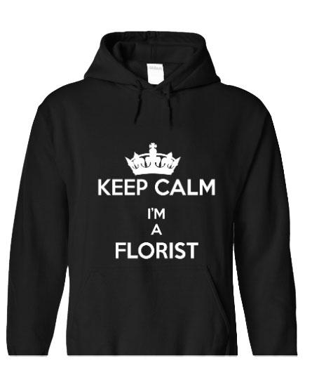 Keep Calm I'm A Florist - Black_hoody
