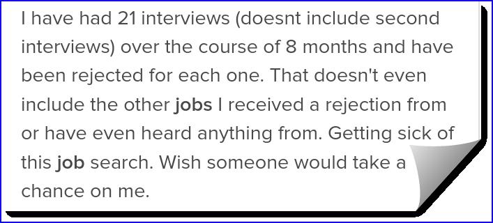 21 Interviews and no success