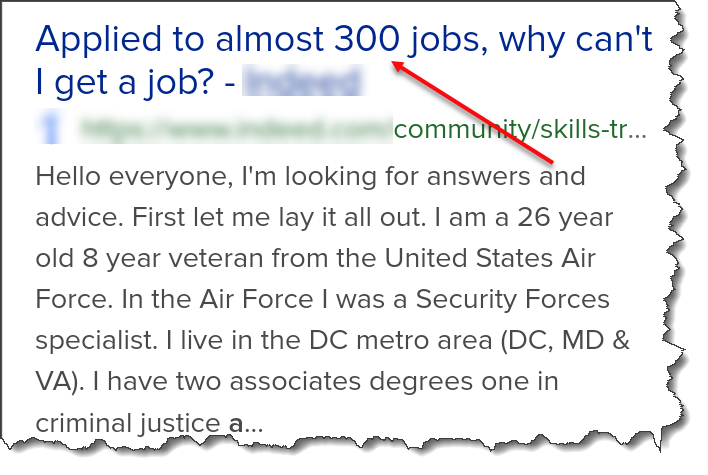 300 jobs applied for