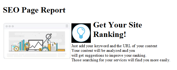 SEO Page Report