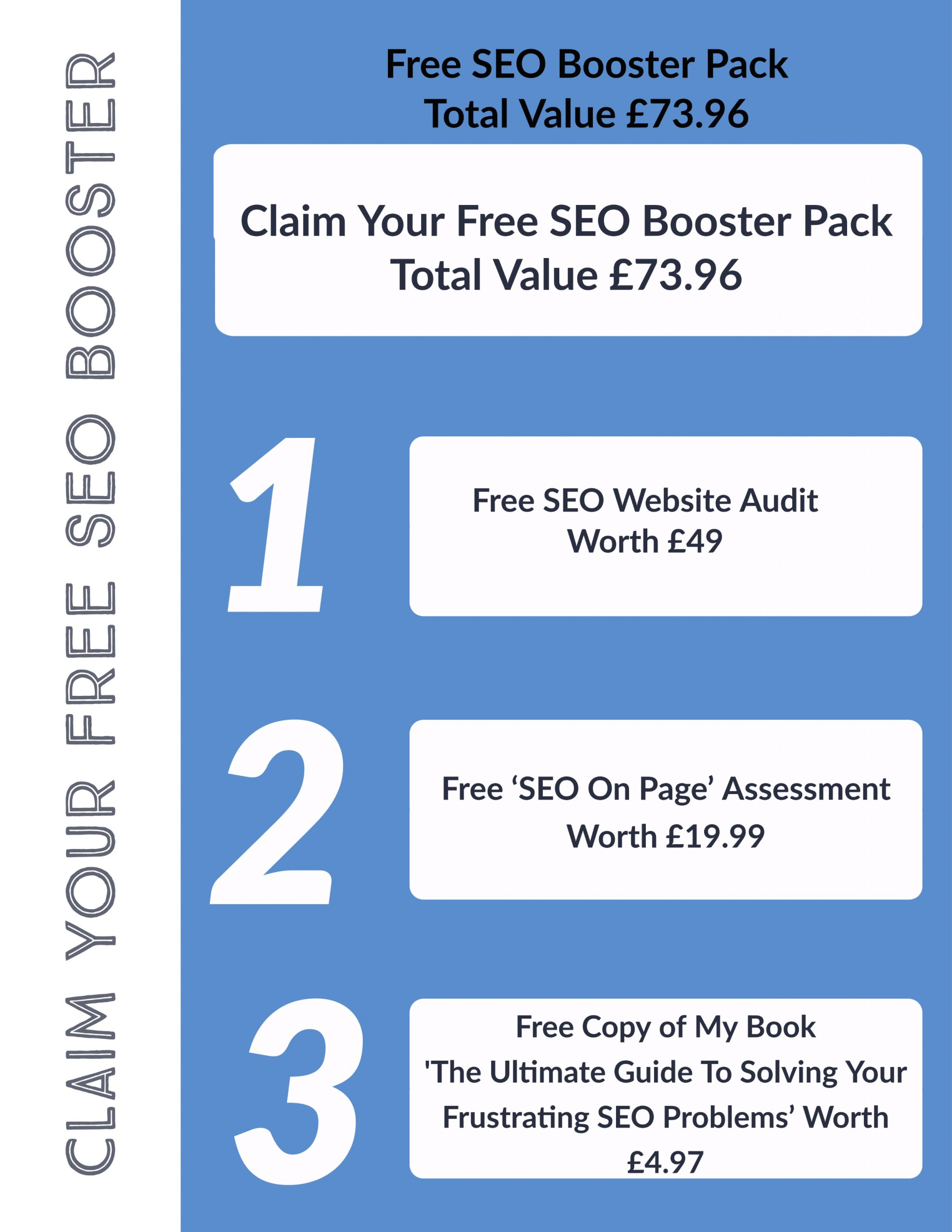 Free SEO Booster Pack Worth £73.96